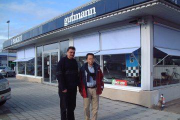 グートマンのマネージヤーと。(2002年)
