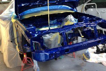 エンジンルーム、ボディを中心に再塗装