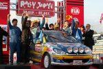 ラリージャパン2005。SUZUKI SWIFT Super1600 に次ぐA6 クラス3 位、総合44 位で完走。ポディウムに立つ。