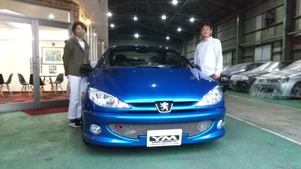 納車実績|兵庫県のK様へプジョー206CCをご納車
